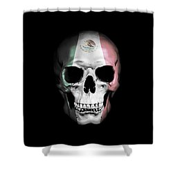 Shower Curtain featuring the digital art Mexican Skull by Nicklas Gustafsson