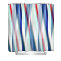 Shower Curtain featuring the digital art Ambient 12 by Bruce Stanfield