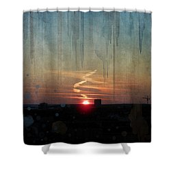 Urban Sunrise Shower Curtain