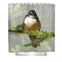 Shower Curtain featuring the painting Fantail  by Ivana Westin