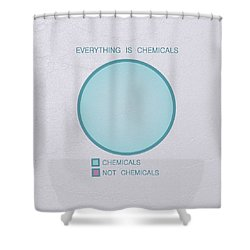 Everything Is Chemicals Shower Curtain by Ivana Westin