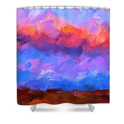 Shower Curtain featuring the mixed media Boundless Dreams by Mark Tisdale