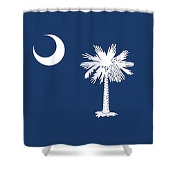 Flag Of South Carolina Authentic Version Shower Curtain