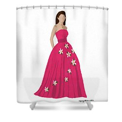 Shower Curtain featuring the digital art Justine by Nancy Levan