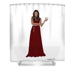 Shower Curtain featuring the digital art Hoda by Nancy Levan