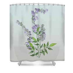 Purple Tiny Flowers Shower Curtain