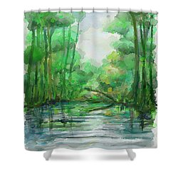 Lost In Colors  Shower Curtain by Ivana Westin