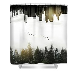 Duality Shower Curtain by Nicklas Gustafsson