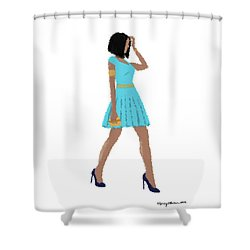 Shower Curtain featuring the digital art Dima by Nancy Levan