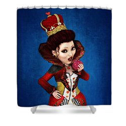 Queen Of Hearts Portrait Shower Curtain