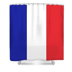 Flag Of France High Quality Authentic Image Shower Curtain