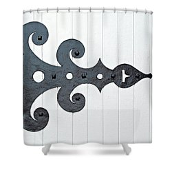 Black On White Shower Curtain by Ethna Gillespie