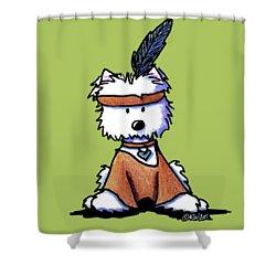 Westie Pocahontas Shower Curtain by Kim Niles