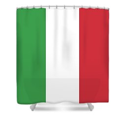 Shower Curtain featuring the digital art Flag Of Italy by Bruce Stanfield