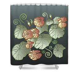 Art Nouveau Garden Shower Curtain