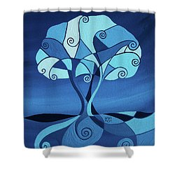 Enveloped In Blue Shower Curtain
