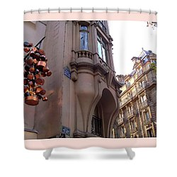 Angles And Details At Place Saint Andre Des Arts Shower Curtain