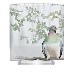 Wood Pigeon Shower Curtain