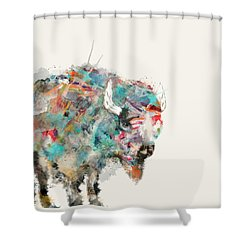 The Buffalo Shower Curtain by Bri B