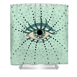 Beautiful Abstract Dotted Blue Eye Shower Curtain