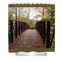 Thompson Park Bridge Stowe Vermont Shower Curtain