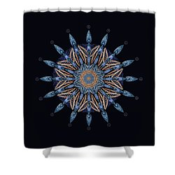 Shower Curtain featuring the digital art Sphinx Moth Pattern Mandala by Deborah Smith