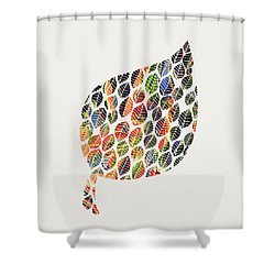 Shower Curtain featuring the digital art Leafy Palette by Deborah Smith