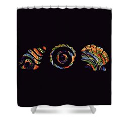 Deep Sea Shell Trio Shower Curtain by Deborah Smith