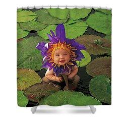Waterlily Shower Curtain by Anne Geddes