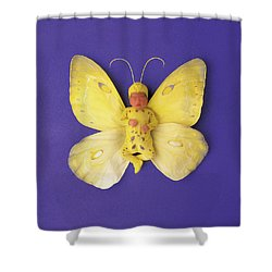 Fiona Butterfly Shower Curtain by Anne Geddes