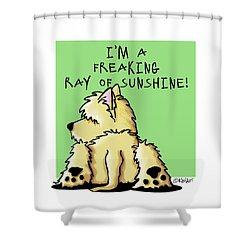 Cairn Terrier Sunshine Shower Curtain by Kim Niles