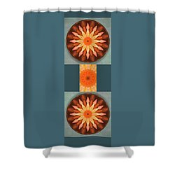 Pumpkin Mandala -  Shower Curtain