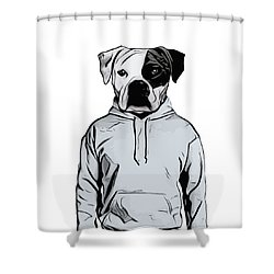 Shower Curtain featuring the painting Cool Dog by Nicklas Gustafsson