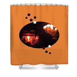 Cozy Advent Shower Curtain by AugenWerk Susann Serfezi