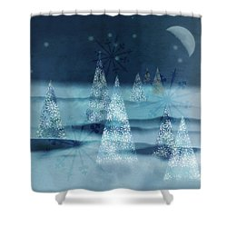 Winter Night Shower Curtain by AugenWerk Susann Serfezi