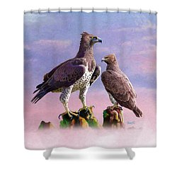 Martial Eagles Shower Curtain