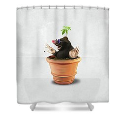 Pot Wordless Shower Curtain by Rob Snow