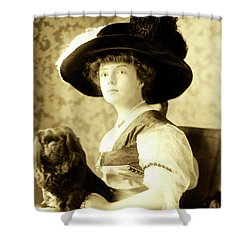 Vintage Lady With Lapdog Shower Curtain