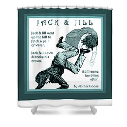 Jack And Jill Vintage Mother Goose Nursery Rhyme Shower Curtain
