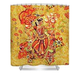 Ganges Flower Shower Curtain