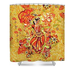 Ganges Flower Shower Curtain