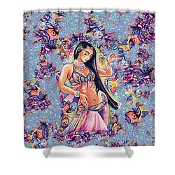 Dancing In The Mystery Of Shahrazad Shower Curtain