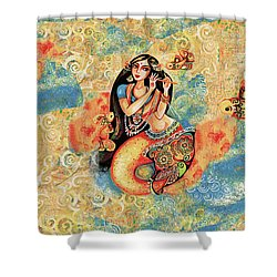 Aanandinii And The Fishes Shower Curtain