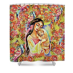 Little Angel Dreaming Shower Curtain