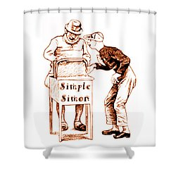 Simple Simon Mother Goose Vintage Nursery Rhyme Shower Curtain