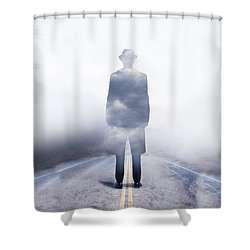 Shower Curtain featuring the digital art Send In The Clouds by Shanina Conway
