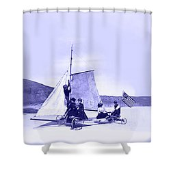 Vintage Ladies And Gentlemen Sail On The Desert Queen Shower Curtain