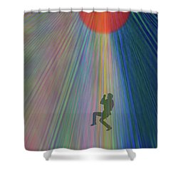 Reach Out And Touch Confidence Shower Curtain