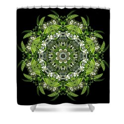 Inspired Action Shower Curtain by Karen Casey-Smith
