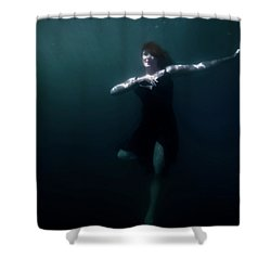 Shower Curtain featuring the photograph Dancing Under The Water by Nicklas Gustafsson